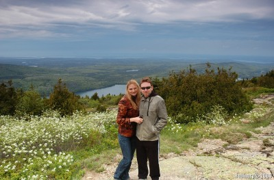Us on top of Cadillac Mountain.