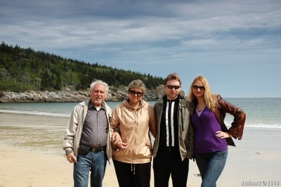 All of us on Sand Beach.