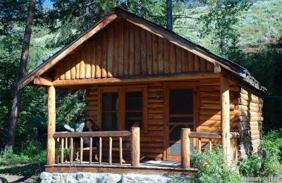 Our cabin at Shoshone Lodge.