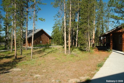 Cabins at Flagg Ranch Resort.