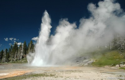 Grand Geyser erupting.