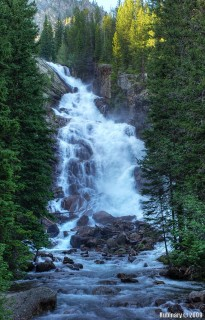 Hidden Falls. Half a mile hike from Jenny Lake.