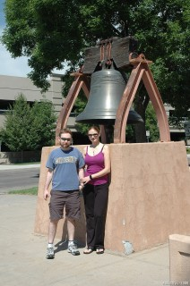 Liberty Bell near Wyoming capitol building.