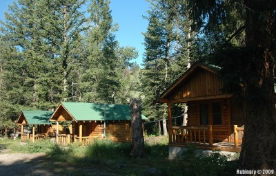Cabins at Shoshone Lodge.
