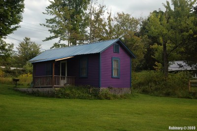 Purple Cottage of Clove Cottages.