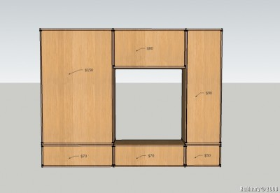 Cheapest way to construct Besta wall unit.
