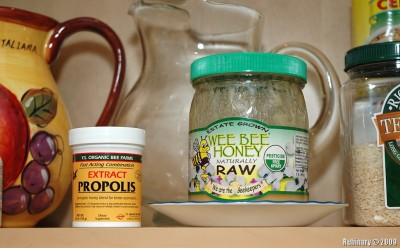 Propolis and honey.