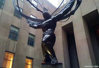 Statue of Atlas.