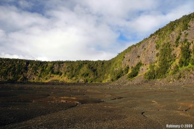 Inside the caldera.