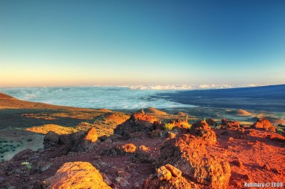 Looking over the clouds from Manua Kea.