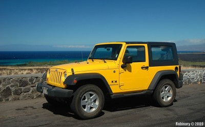 Our yellow Jeep.