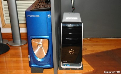 Old vs New. Old Gen 3 XPS next to a new Studio XPS 8000.