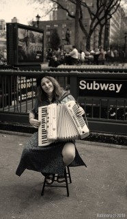 Accordionist at Union Square.