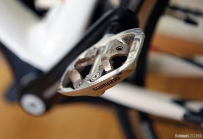 Shimano A520 SPD pedals.