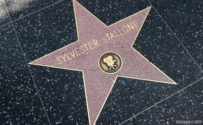 Sly Stallone's star on the Walk of Fame.