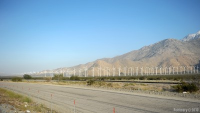 Wind turbines near Desert Hot Springs.