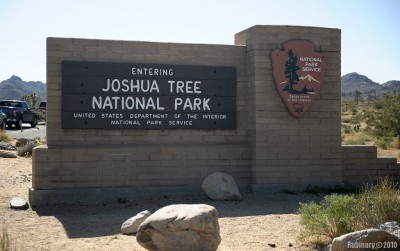 Entrance to Joshua Tree National Park.