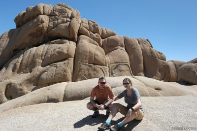 Rock formations in Joshua Tree National Park.