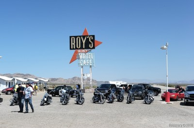 Roy's -- the gas station in Amboy, CA. Nothing around.