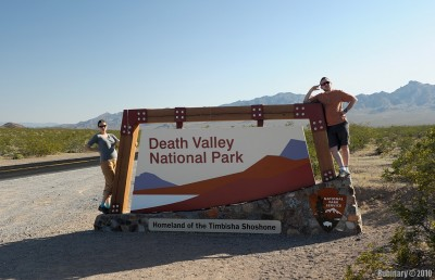 Entering Death Valley National Park.