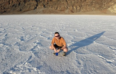 Badwater Basin. The salt is starting to dry out.