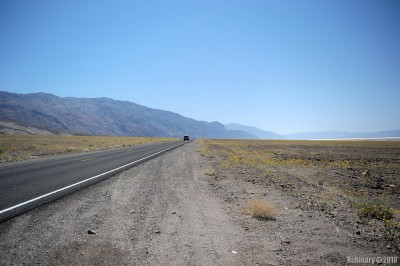 Badwater Road going throught Death Valley National Park.