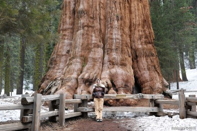 Alena in front of General Sherman.