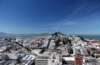 Coit Tower — view from our hotel.