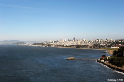 San Francisco. View from Golden Gate Bridge.