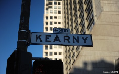 Kearny Street. Near the entrance to our hotel.