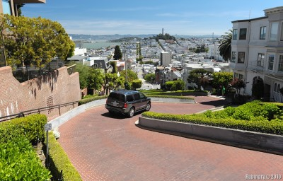 Lombard Street. Looking down.