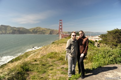 Us with Golden Gate in the background.