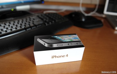 iPhone 4 box.