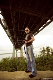 Daniel under Verrazano-Narrows Bridge. Photo by Andrey Rybalka.
