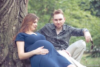 Даня и Алёна. Неделя до родов.