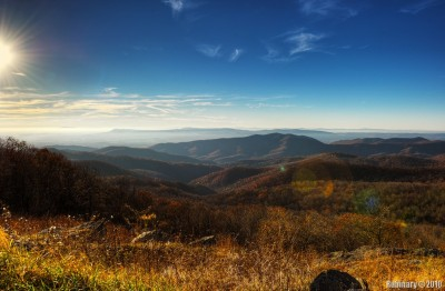 Evening light over Shenandoah National Park.