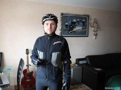 Cycling clothing.