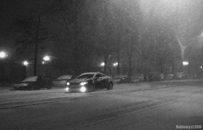 Snow storm.