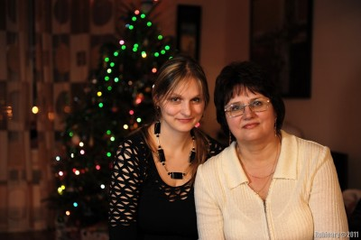 Alena and mama.