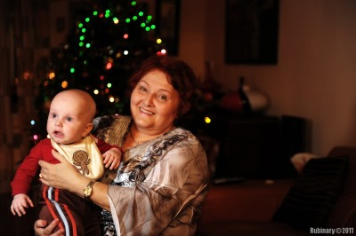 Aunt Lilya and Arosha.