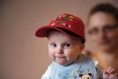 Aroshka's new hat.