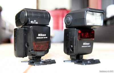 Nikon SB-600 and SB-800 speedlights.