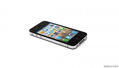 iPhone 4 on pure white background.