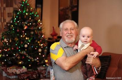Papa and Arosha.