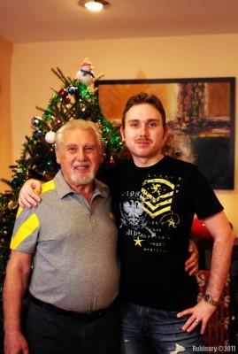 Papa and I.