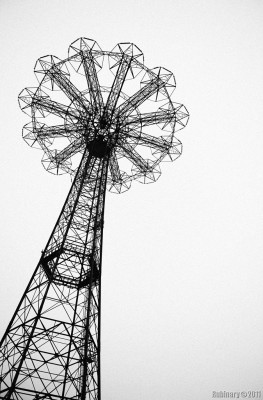 Parachute Jump at Coney Island.
