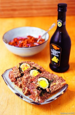 Egg-and-Spinach-Stuffed Meat Loaf.