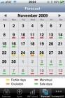 Ovulation calendar.