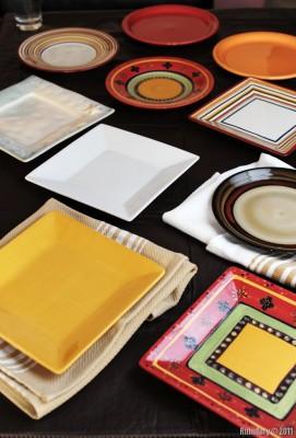 Assortment of plates.