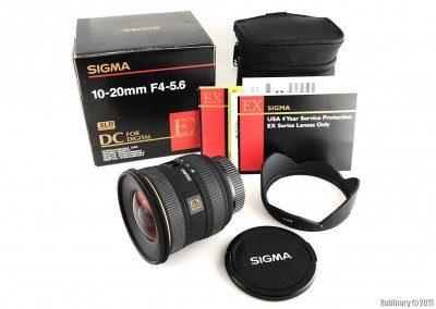 Sigma Zoom Super Wide Angle 10-20mm f/4-5.6D EX DC HSM Lens.
